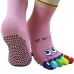Unisex Patterned Toe Socks