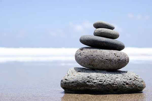 What are you looking for in yoga-aligned rocks on a beach