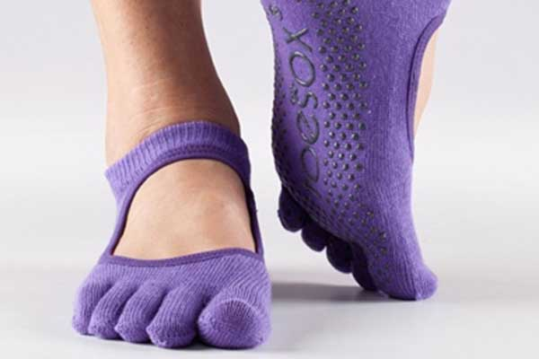 toe socks for yoga-purple toesox
