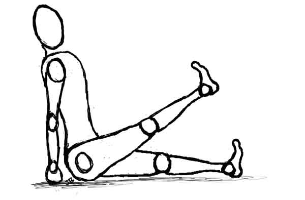 Reinforcing Muscle Length-seated leg lift