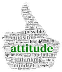 thumbs up attitude word cloud