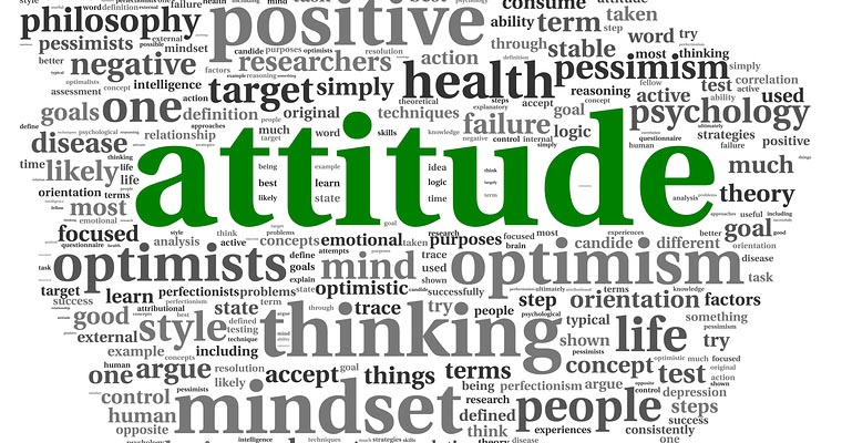Attitude concept in word tag cloud