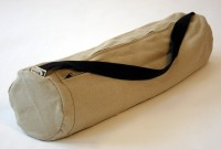 bean hemp yoga bag in tan