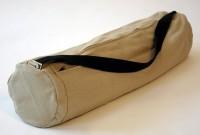 bean hemp yoga bag in tan