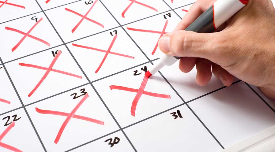 creating a habit - marking days on calendar