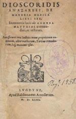 De Materia Medica book cover