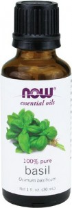 now basil oil bottle