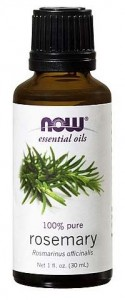 now rosemary oil bottle