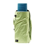 yoga sak mat bag folded in green