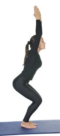 Utkatasana_chair pose_incorrect posture