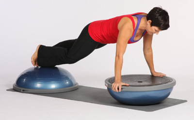 Bosu Balance Trainer-push up