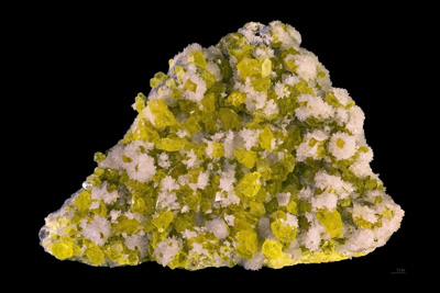 Sulfur in crystal form