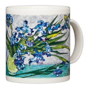 van gogh vase with irises mug