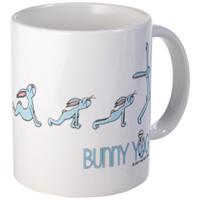 bunny yoga mug
